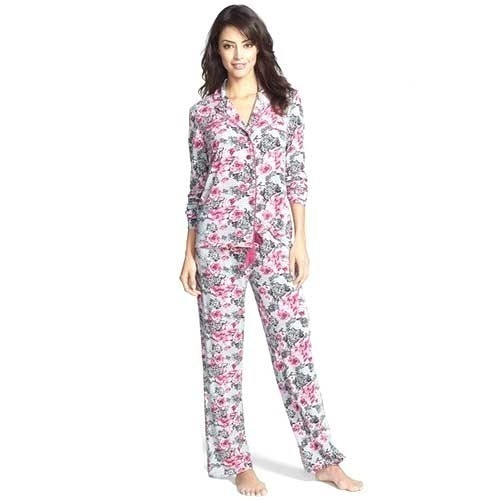 e4f45839ad1 Printed Cotton Floral Print Ladies Night Suit