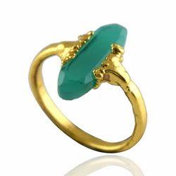 Green Onyx Gemstone Rings