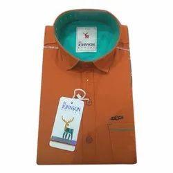 Itc Johnson XL Mens Plain Regular Fit Cotton Shirt b2cdc9e15