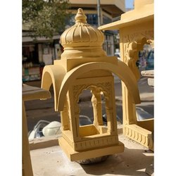 Yellow Cement Round Jaisalmer Lamps, For Construction