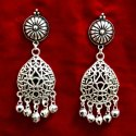 Silver Plated Oxidized Earrings