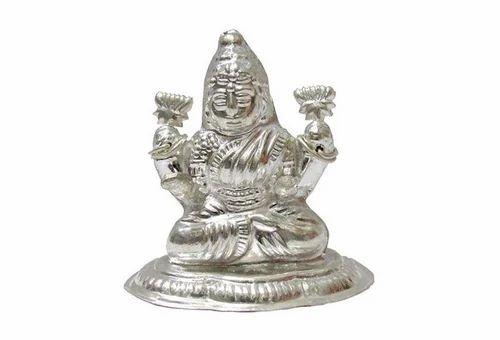 Pure Silver Lakshmi Ji Idol