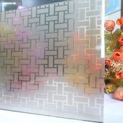 Transparent Acid Etched Glass, Thickness: 4-25 mm
