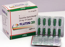 Fluoxetine Hydrochloride U.S.P. (Flutin-20), Packaging Size: 10 X 10
