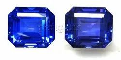 Tanzanite Faceted Octagon Gemstone