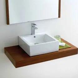 White Bathroom Ceramic Wash Basin