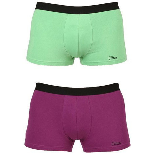 5ad74a9006 Cotton Light Green And Purple Mens Trunk Underwear