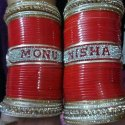 Couple Name Wedding Bangles And Chura