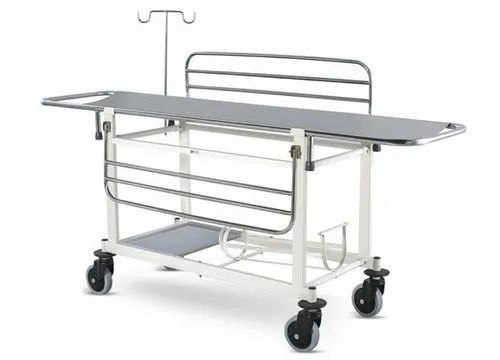 Manual Hospital Stretcher Trolley, Stainless Steel, Size: 6X2, Rs ...