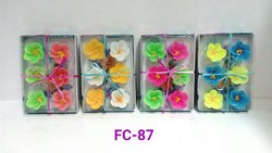 Multi-Colour Floating Candle (set Of 6)