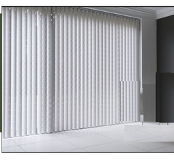 Plastics White Black Out Vertical Blinds