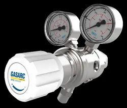 GasArc Spec Master HPT600 Series Two Stage Nickel Plated Brass Barstock Diaphragm Cylinder Regulator