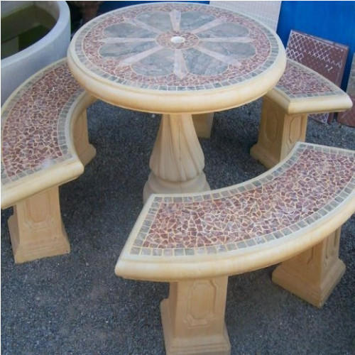 Concrete Tables And Benches View Specifications Details