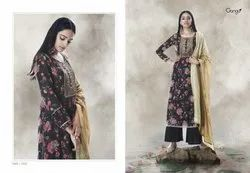 Ganga Lotus Sutra 7510-7515 Series Cotton Silk Ladies Suits