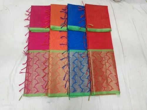 Printed Party wear Fancy Sarees Cotton, Handwash