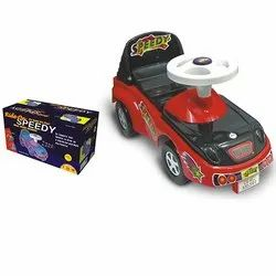Red and Black ABS Plastic Joyful Speedy Car, For Kids