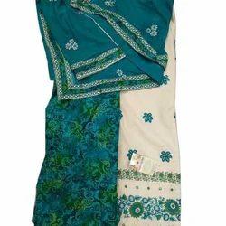 Party Wear Cotton Unstitched Patiala Suit