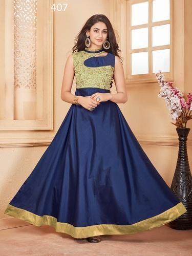 d3a9f5fba0c Taffeta Silk Designer Gown at Rs 849  piece