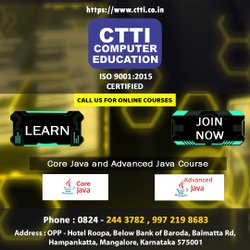 5 Months Learn Core Java And Advance Java, In Mangalore