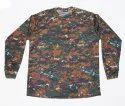 Unisex Camouflage T-shirt Full Sleeve, Size: Free Size