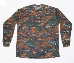 Camouflage T-Shirt Full Sleeve