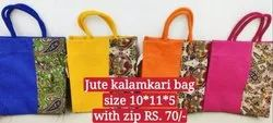 Kalamkari Design Jute Bag