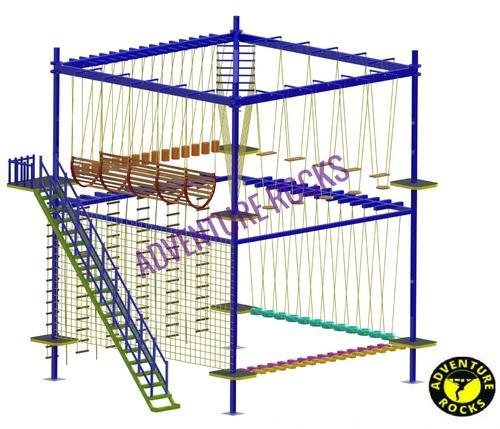 Double Layer 4 Pole Rope Course