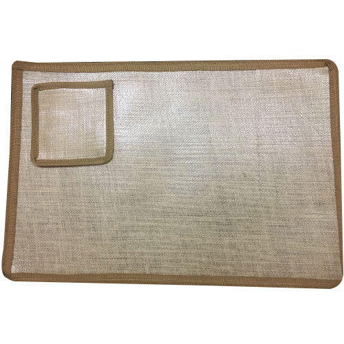 Brown Jute Table Mats With Coasters