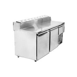 Number Of Doors: 2 Stainless Steel Under Counter Refrigerator Salad Counter, Capacity: 400 L