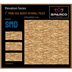 Sparco Gloss Exterior Use Ceramic Wall Tile, Thickness: 10-15 Mm, Size: 300x600 Mm
