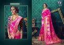 Nitya Shree Pink Designer Saree With Cotton Silk