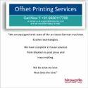Offset Calendar Printing Services