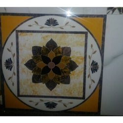 Gloss Floral Print Floor Tile, Thickness: 10 - 12 mm, Size: 16 X 16 Inch