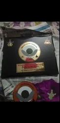 Wooden With Brass Army Trophy Momento