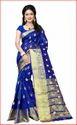 Blue Banarasi Saree