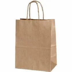 Plain Brown Paper Bags With Handle 12x4x16 Inches - 140 Gsm