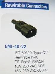 Female/Jack Cables Connectors, For Power, Size: C14