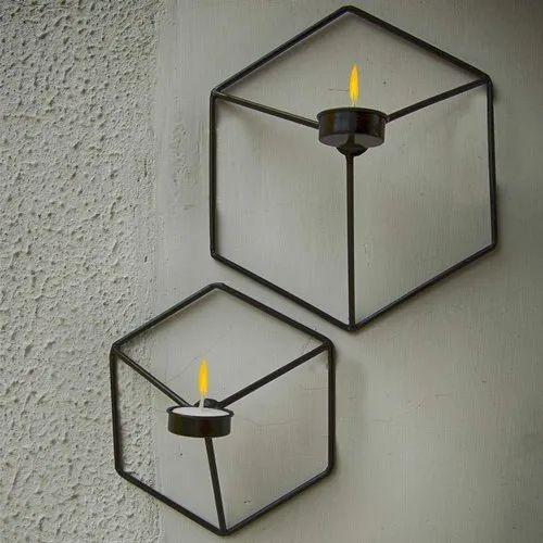 Metal Nordic Style Geometric Candle