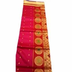 Party Wear Printed Red Tussar Designer Silk Sarees, 6.3 M (with Blouse Piece), Machine Made