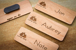 Leather Engraving Name Board