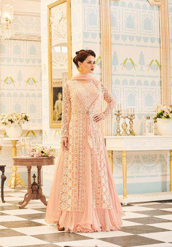 c5d8253607 Georgette Embroidery Gota Lace Patti Anarkali Suits, Rs 2395 /piece ...