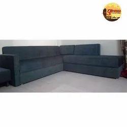 Plain Fabric Sofa Set