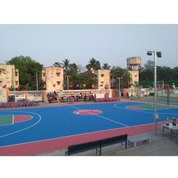 Outdoor Matte Synthetic Sports Flooring Service