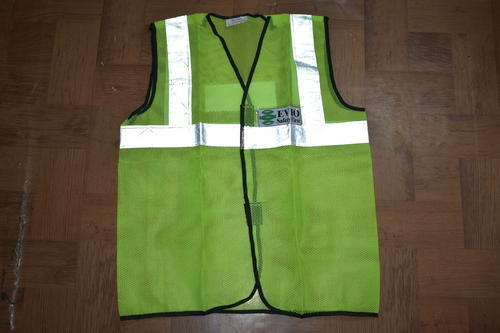Polyester Reflective Jackets Green Colour, Size: Free Size