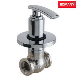 Stainless Steel Somany Joop Heavy Body Concealed Stop Cock with Wall Flange