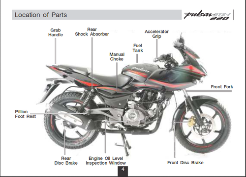 bajaj pulsar 220f bike view specifications details of bajaj rh indiamart com Bajaj Avenger 220 Bajaj Avenger 220