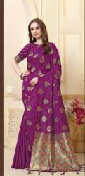 Exclusive Designer Banarasi Silk Weaving Saree With Blouse Piece