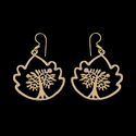 Tribal Boho Statement Jewelry Women Gift for Brass Earrings
