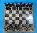Green Chess Board With Figures