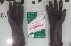 Black Rubber Hand Gloves